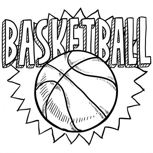 sports coloring pages basketball