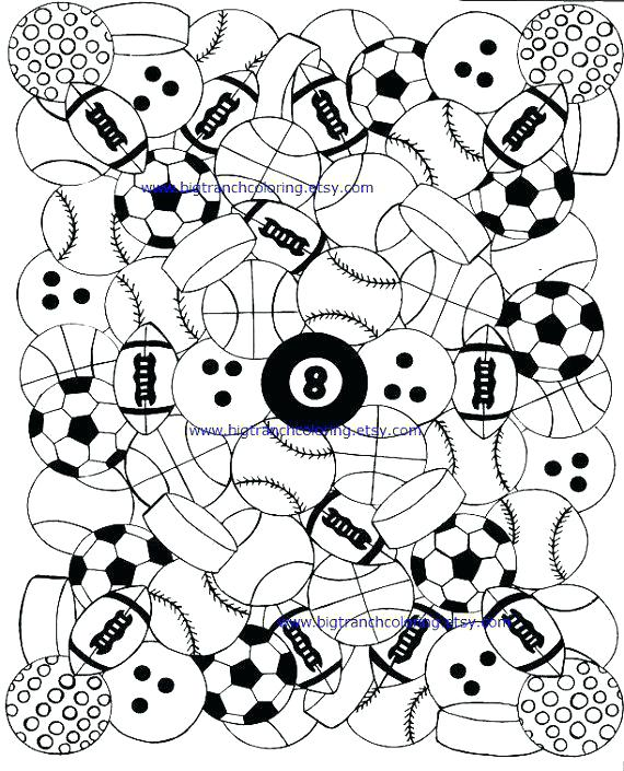 sports coloring pages for adults