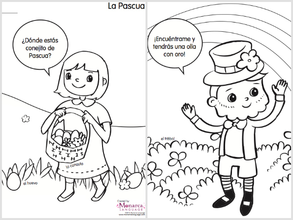spring coloring pages in spanish printable spanglishba