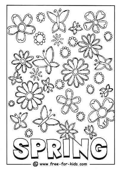 spring coloring pictures