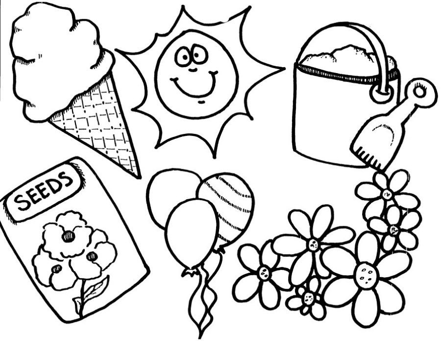 spring season 4 nature printable coloring pages