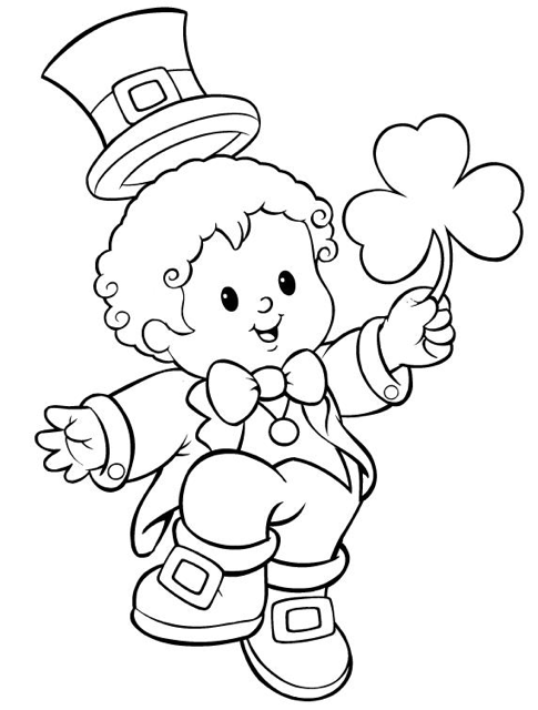 st patricks day coloring page coloring page book for kids
