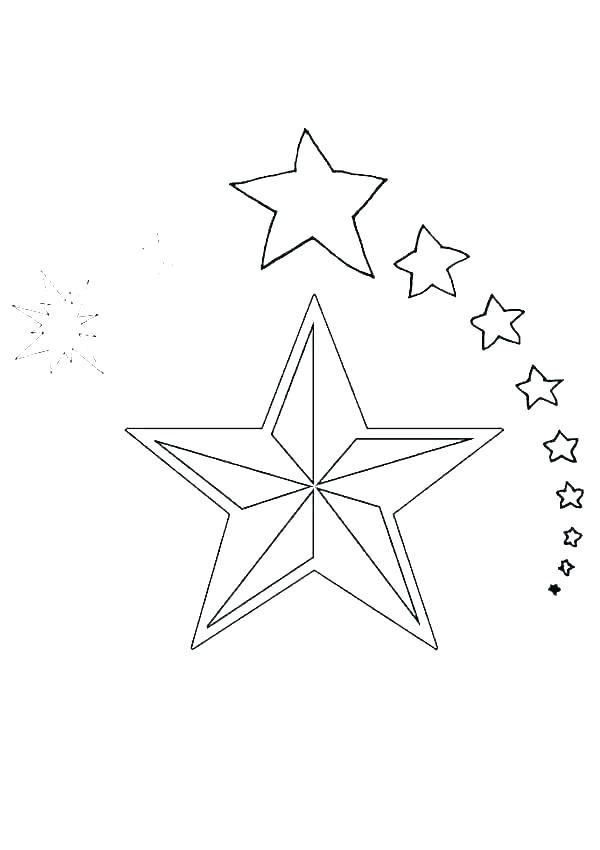 star coloring padges