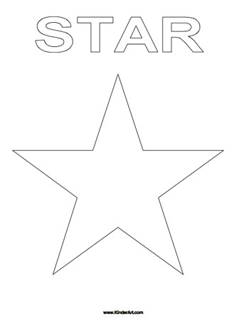 star coloring page kinderart