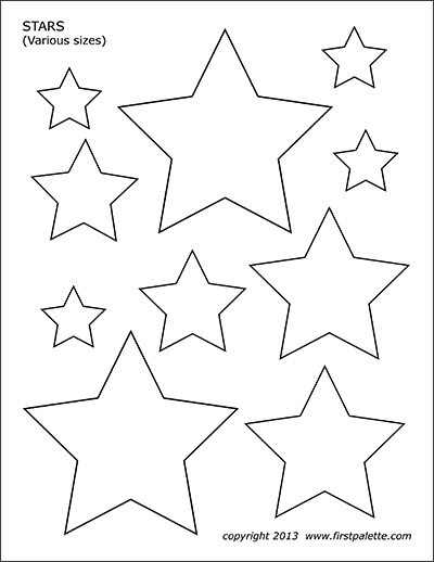 stars free printable templates coloring pages