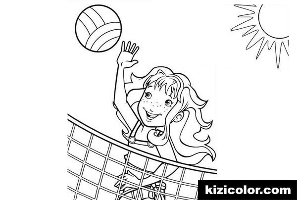 strandball ein madchen das volleyball spielt
