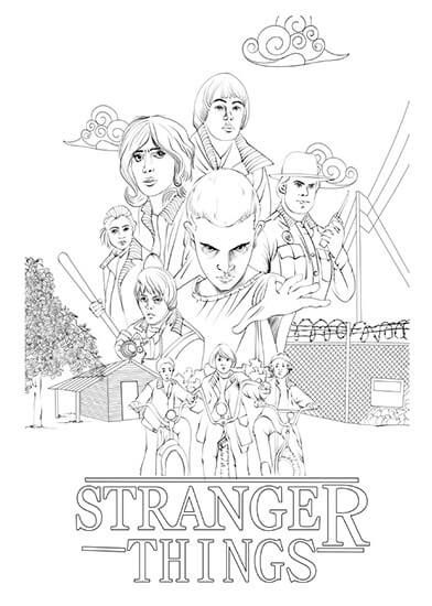 stranger things coloring pages free wenn du mal buch