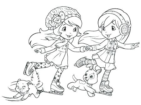 strawberry shortcake coloring pages rutuesday