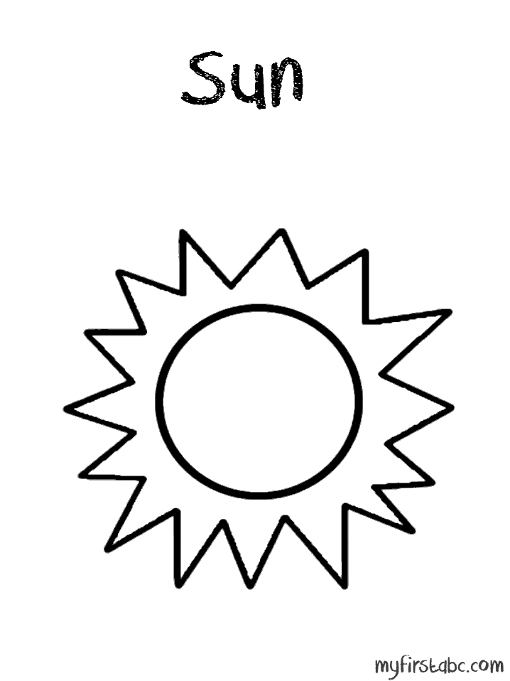 sun 49 nature printable coloring pages