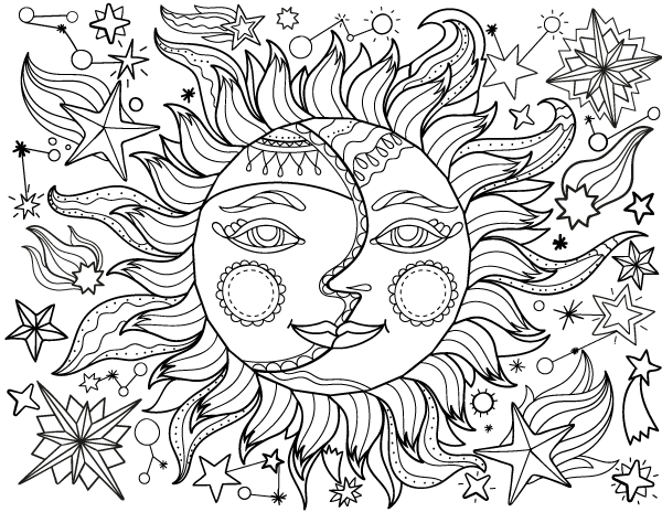 sun and moon coloring pages pin muse printables on adult