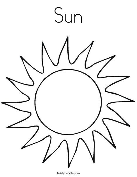 sun coloring page from twistynoodle sonne basteln