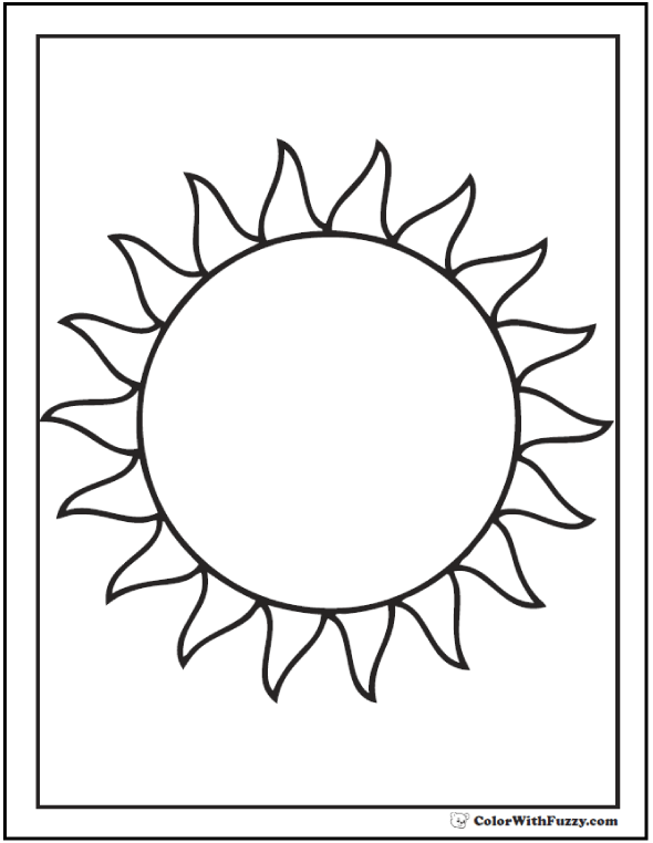 sun coloring pages easy free printable sun coloring pages