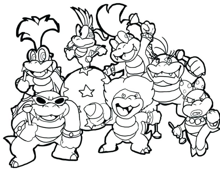 super mario coloring pages to print at getdrawings