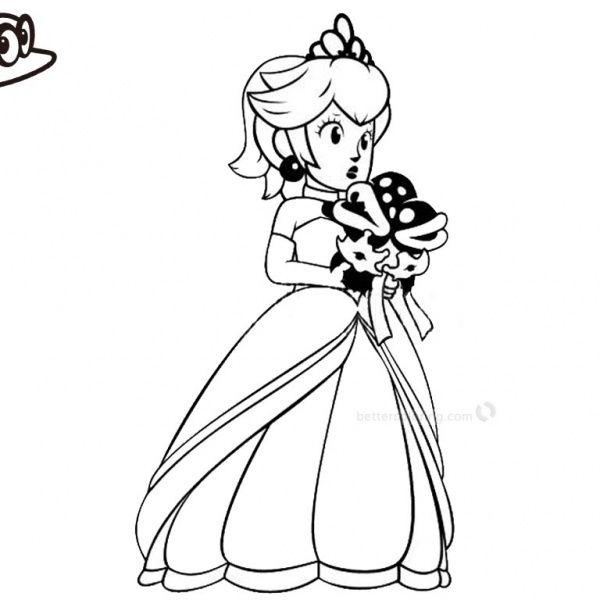 super mario odyssey coloring pages princess peach coloring