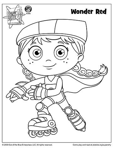 super why coloring book pages from pbs parents