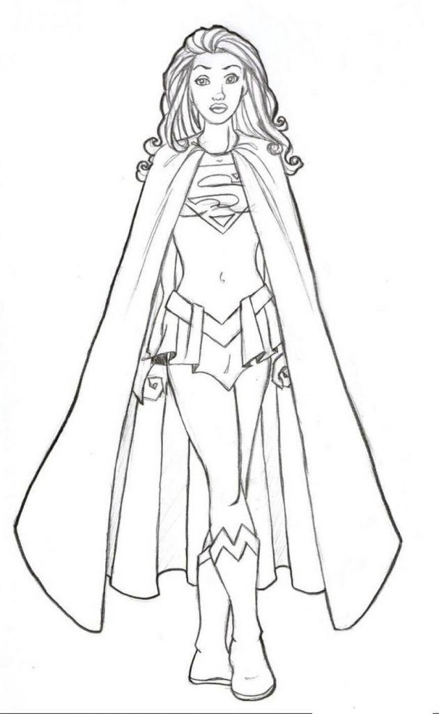 supergirl coloring pages superhelden malvorlagen