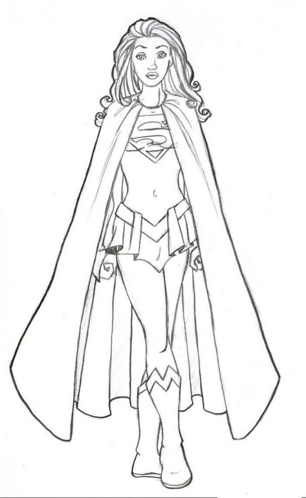 supergirl coloring pages superhelden malvorlagen