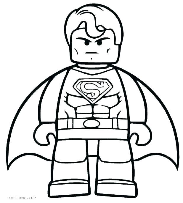 superman color page pages children coloring batman of