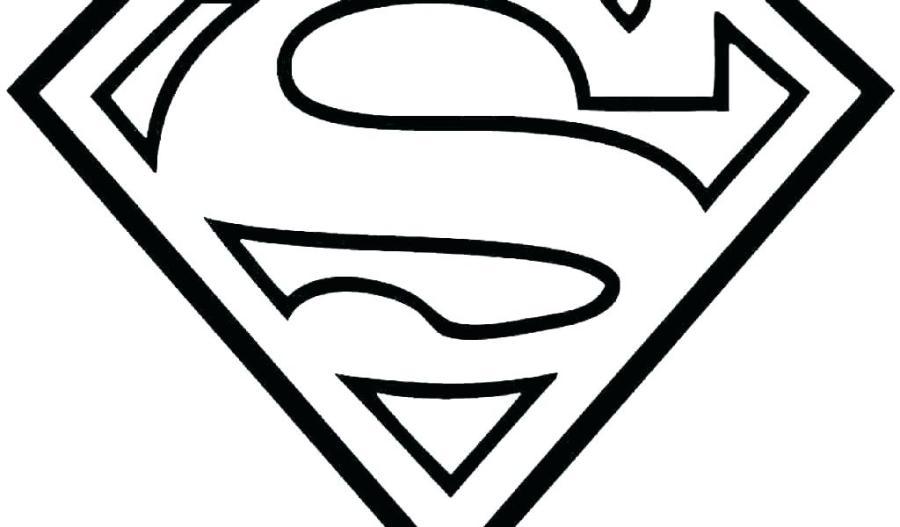 superman logo coloring page interesantecosmetice