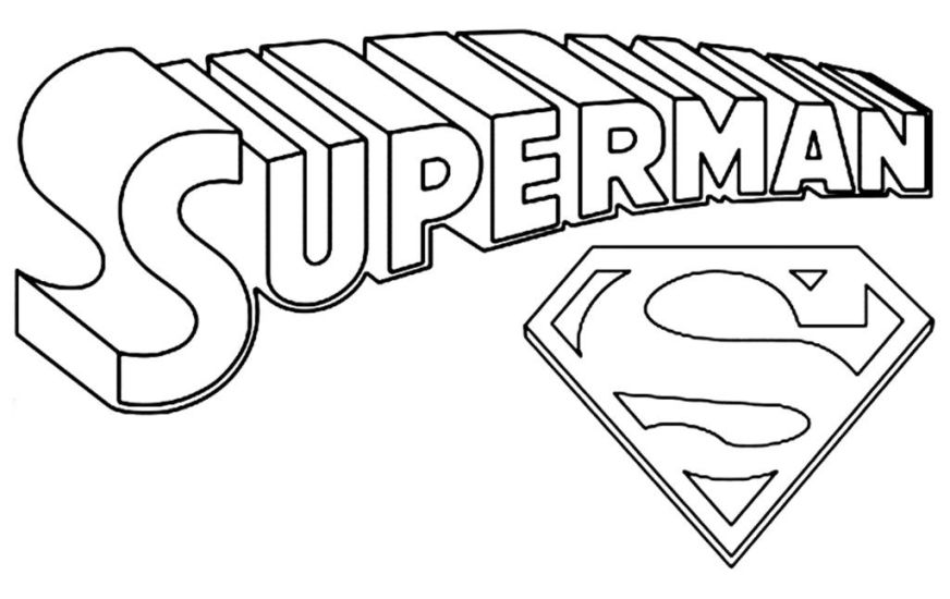superman logo coloring pages superman coloring pages