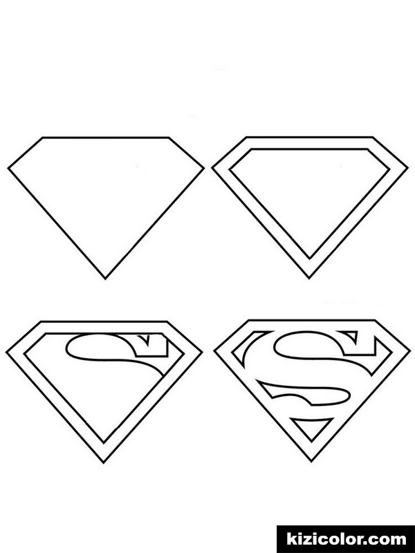 superman logo for boys 1 kizi free coloring pages for