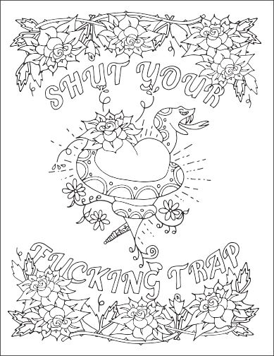 swear word coloring pages printable