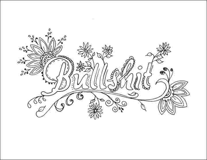 Swear Word Coloring Pages Gallery - Whitesbelfast.com