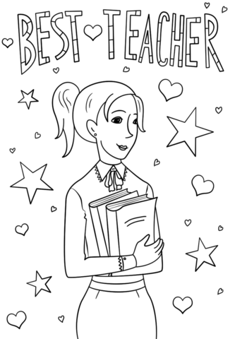 teacher coloring pages to print pusat hobi