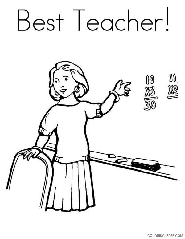 teacher community helpers coloring pages coloring4free