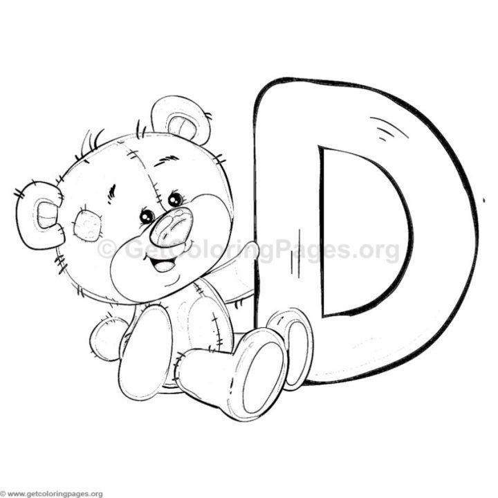 teddy bear alphabet letter d coloring pages ausmalbilder
