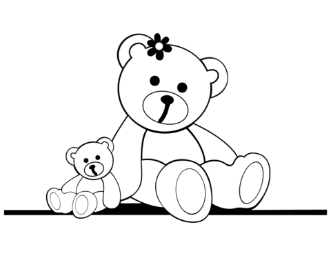 teddy bears coloring page free printable coloring pages