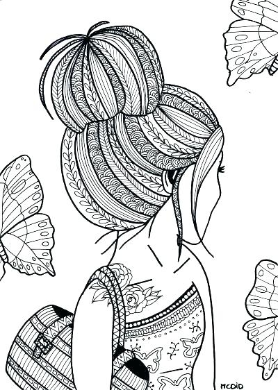teenage girl coloring pages realistic gallery fun for kids