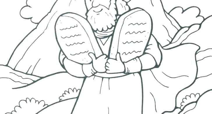 ten commandments coloring page africaecommerceco