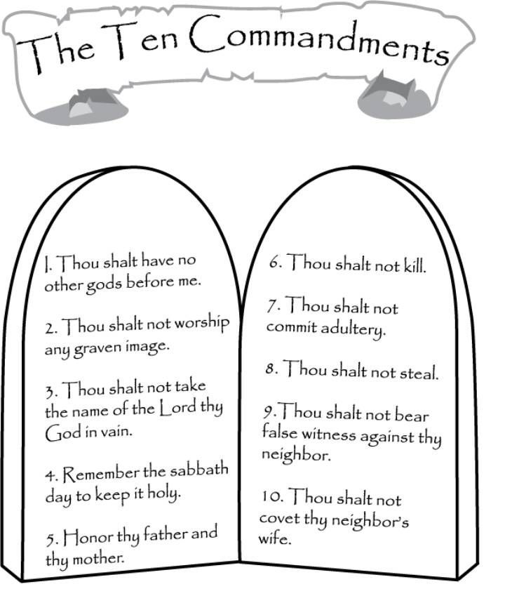 ten commandments coloring pages best coloring pages for kids