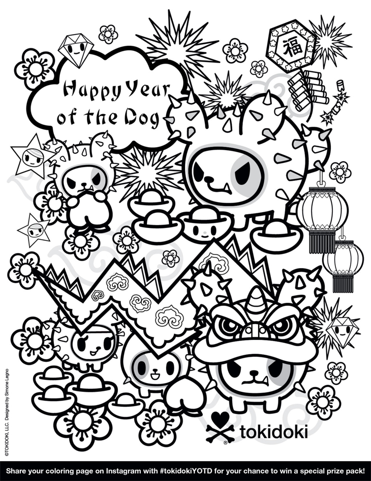the best free tokidoki coloring page images download from