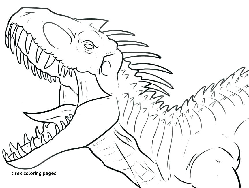 the best free trex coloring page images download from 93