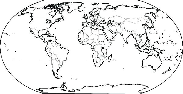 the best free world map coloring page images download from