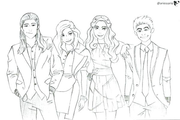 the descendants 2 coloring pages