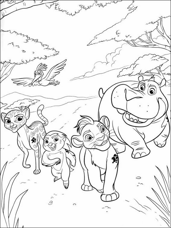 the lion guard printable coloring pages 11