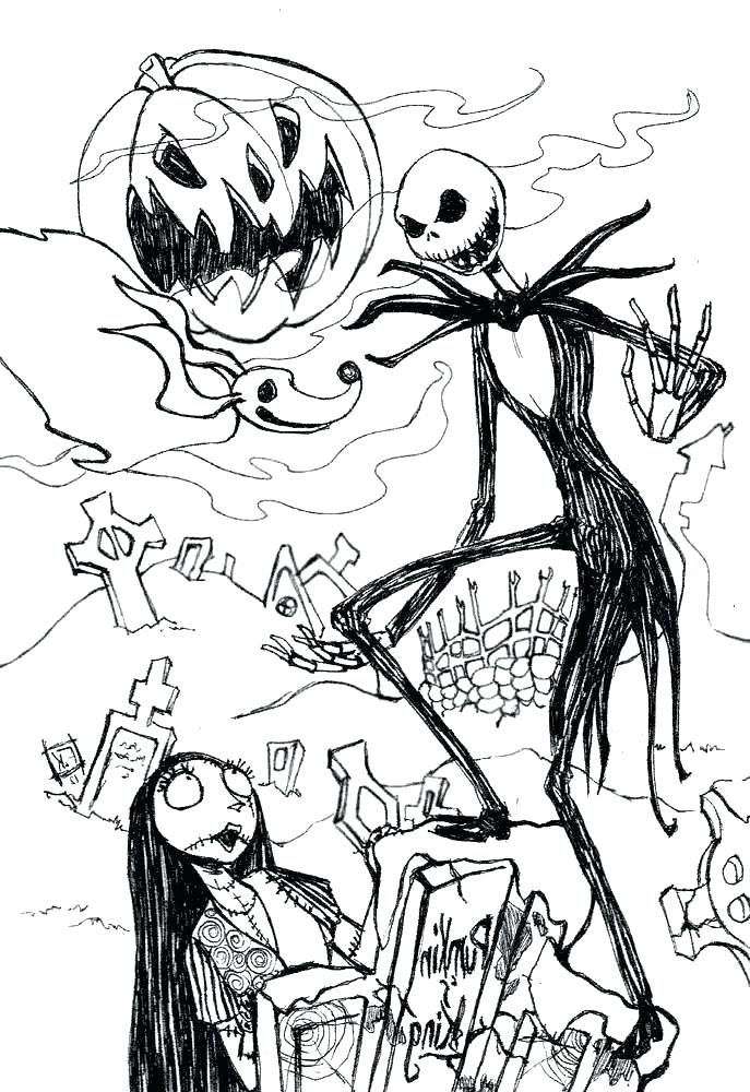the nightmare before christmas coloring pages colouring