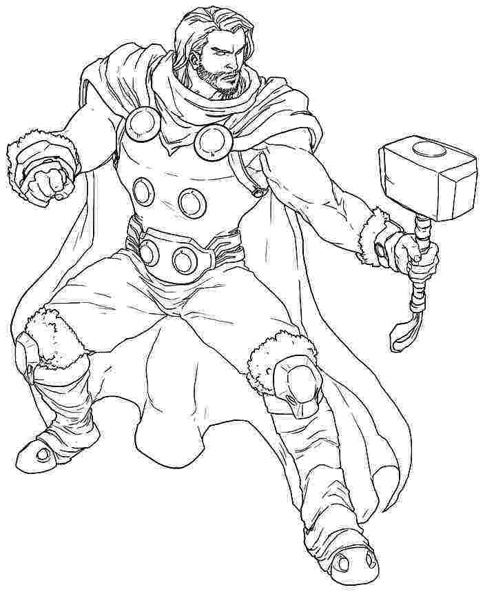 thor cartoon coloring pages thor coloring pages