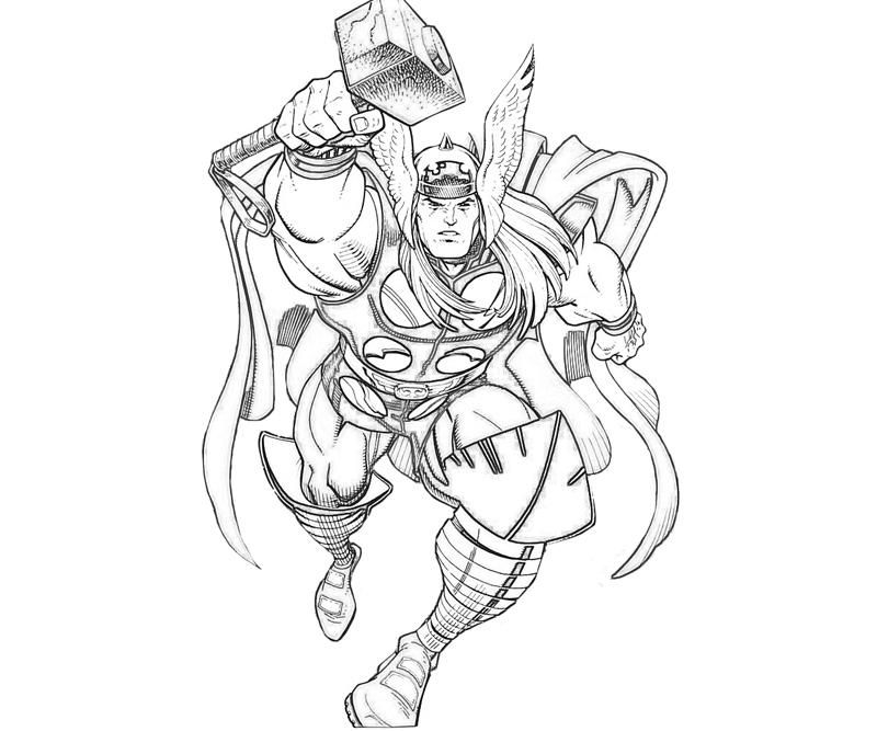 thor coloring page marvel vs capcom thor coloring pages