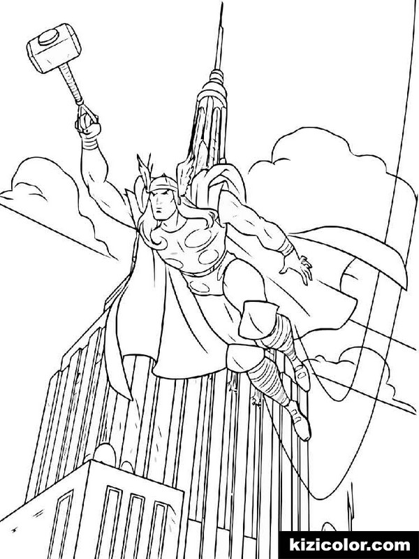 thor for boys 9 kizi free coloring pages for children
