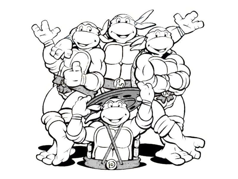 tmnt coloring pages printable ninja turtles motive from
