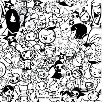 tokidoki cute coloring pages coloring pages coloring