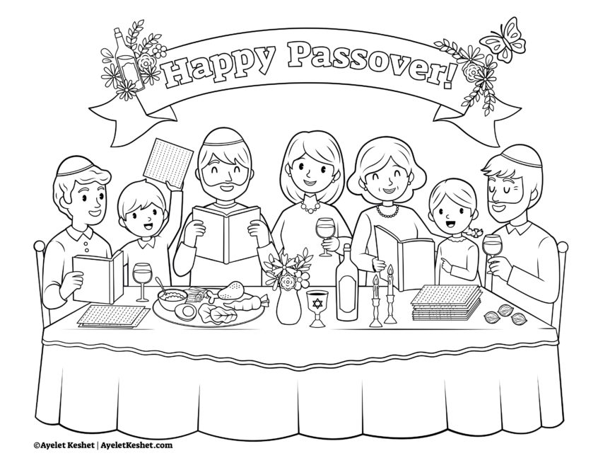 top coloring pages passover coloring with cute