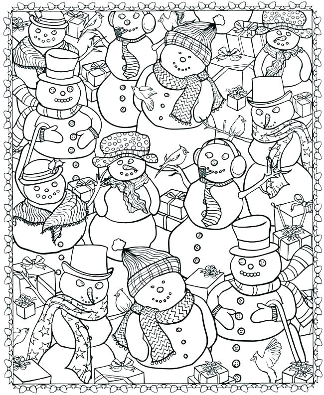 top free winter coloring pages printable weaver website