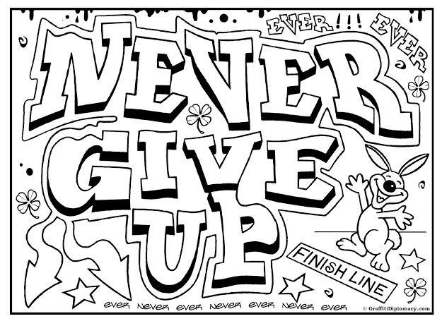 top graffiti words coloring pages for teenagers photos
