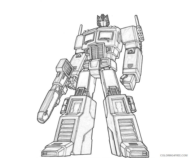 transformer coloring pages optimus prime coloring4free