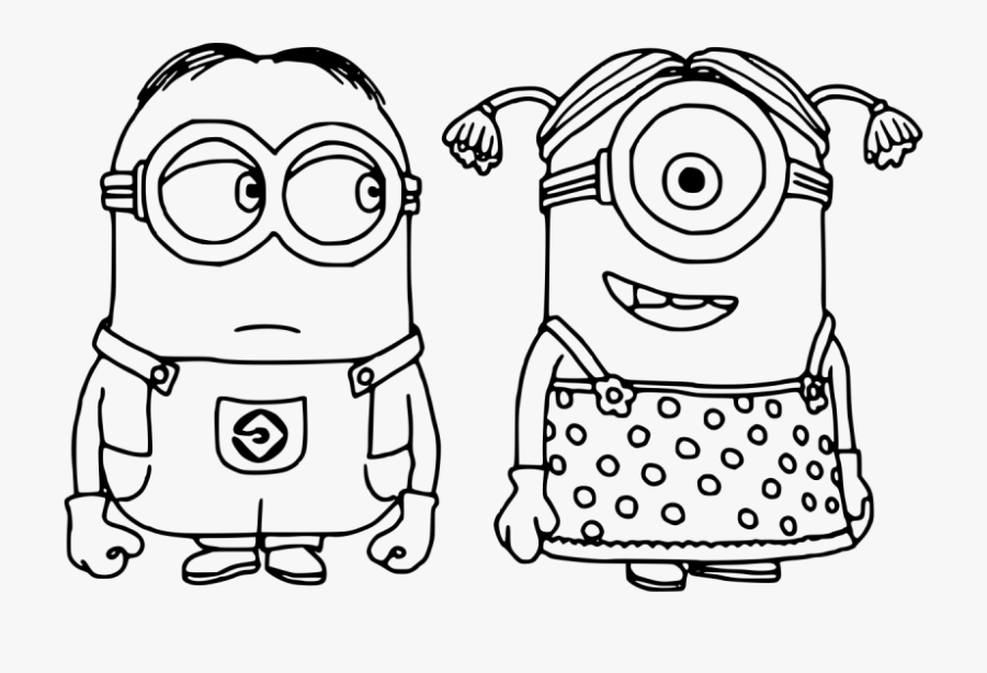 transparent girl minion png minions coloring pages